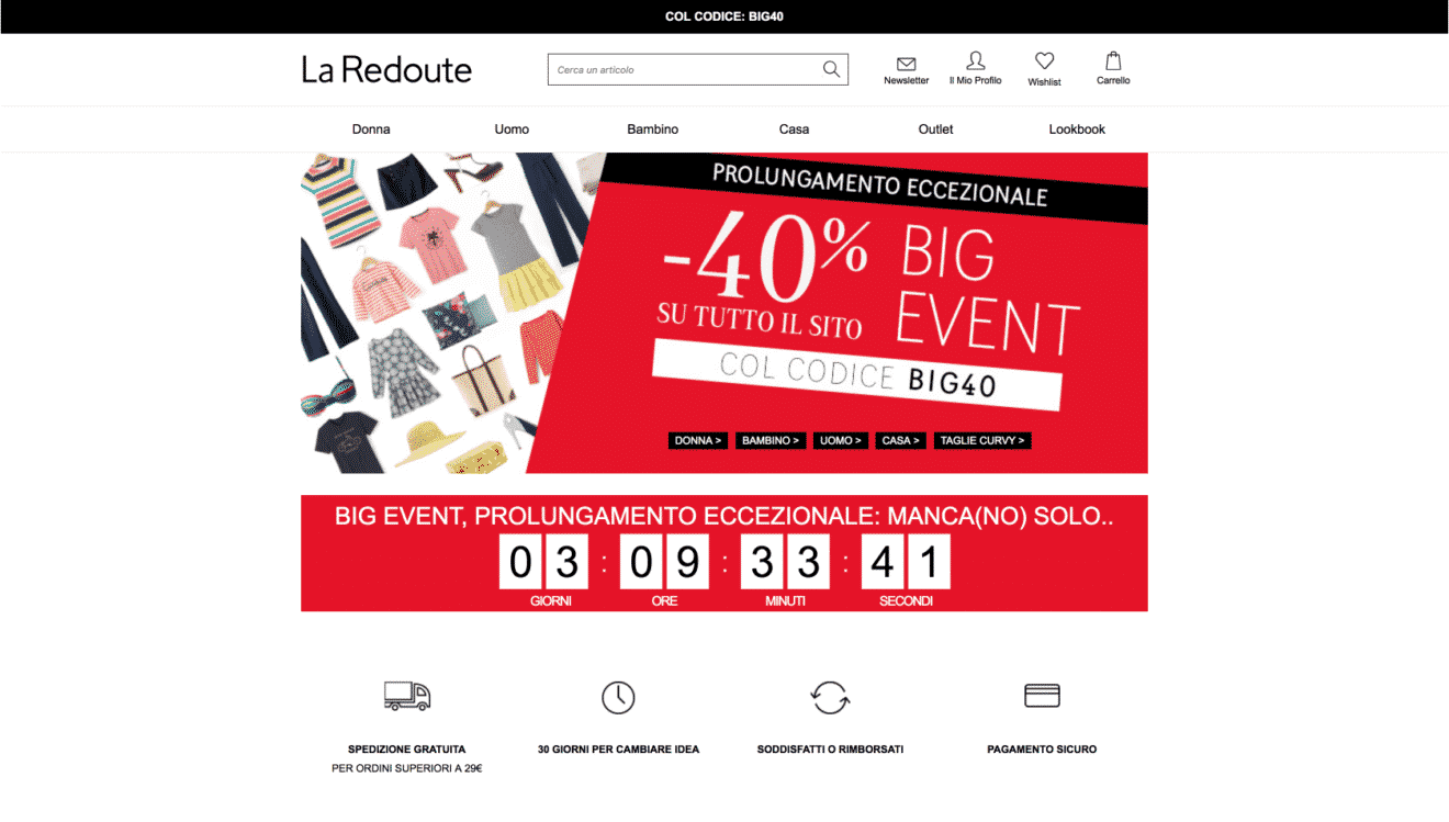 LaRedoute IT con Sconto del 40%