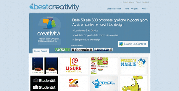 Best Creativity Crowdsourcing italia