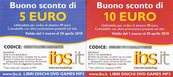 Retro del flyer di IBS.it