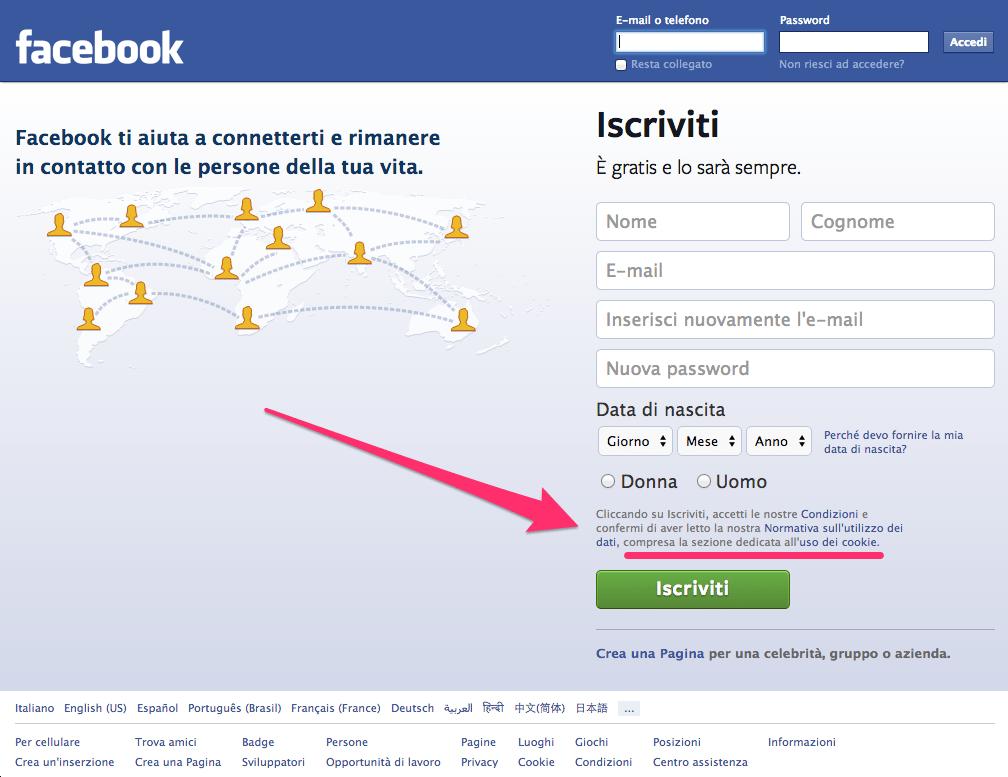 Facebook-Cookies