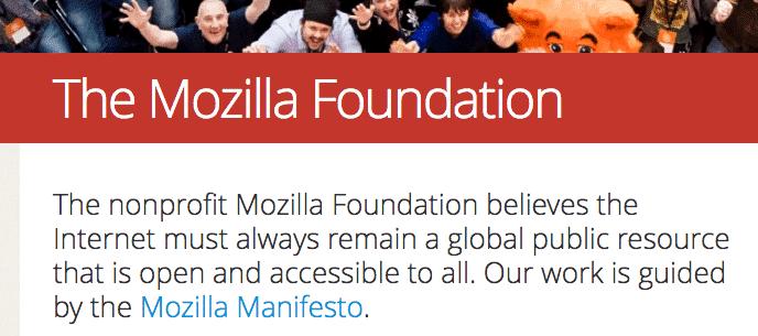 Mozilla segue la filosofia del Free Software