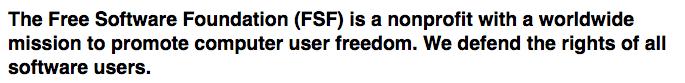 La missione della FSF è la difesa dei diritti di tutti gli utilizzatori di software