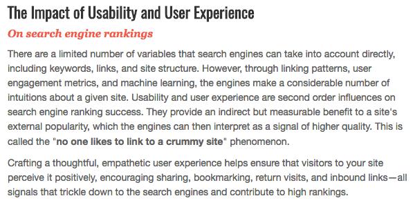 L'esperienza utente influisce sul posizionamento organico nei motori di ricerca