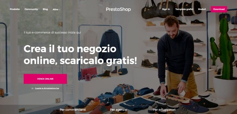 PrestaShop è una piattaforma e-commerce open source