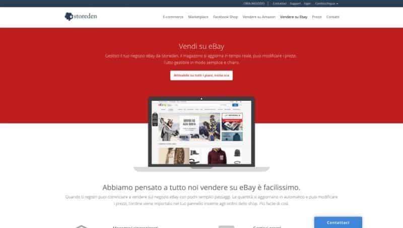 Storeden si integra con ebay