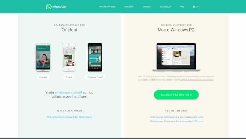 Whatsapp può essere usato anche da computer fissi