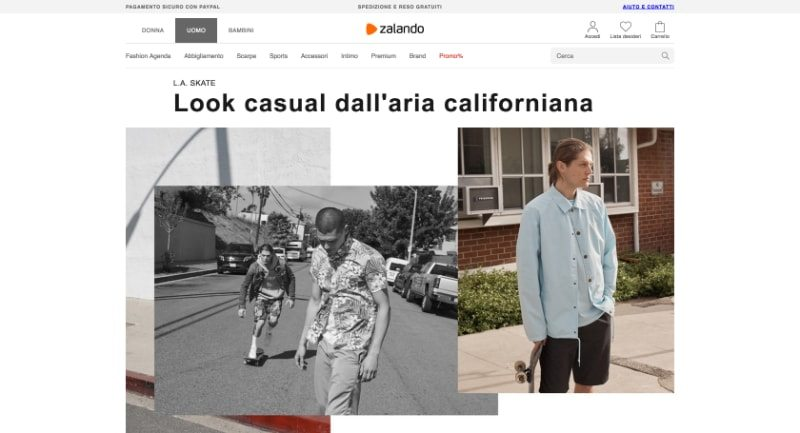 Zalando usa una piattaforma e-commerce closed source